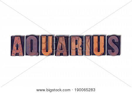Aquarius Concept Isolated Letterpress Word