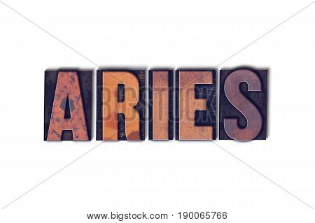Aries Concept Isolated Letterpress Word