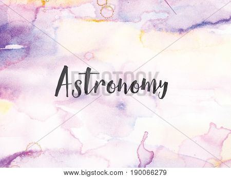 Astronomy Concept Watercolor And Ink Painting