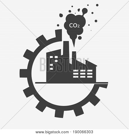 Factory Icon Isolated.