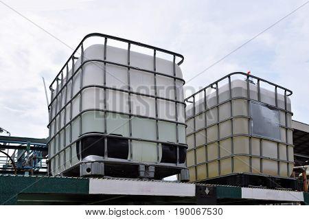 Storage tanks , chemical storage areas .