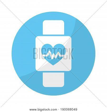 sticker smartwatch to know the rhythm cardiac vector illustration