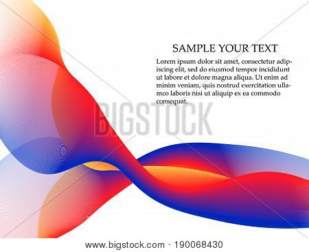 Abstract Smooth Color Wave Vector.