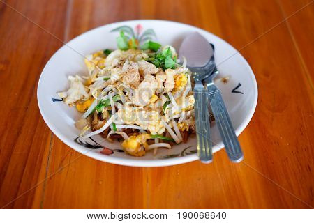 The one of Thailand's national main dish (PAT-THAI)