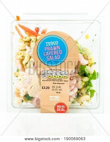 Tesco Prawn Layered Salad, Fresh Ready To Eat Meal.