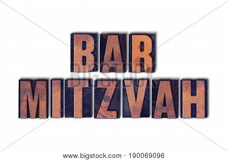 Bar Mitzvah Concept Isolated Letterpress Word