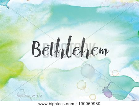 Bethlehem Concept Watercolor And Ink Painting