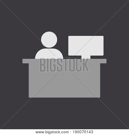 Office worker business. Icon vector illustration eps 10