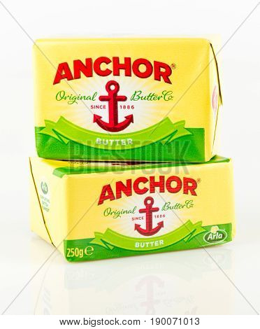 Two Pats Of Anchor Butter. Original Butter Company Since 1886.