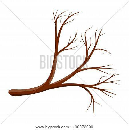 Cartoon Branch Vector Symbol Icon Design