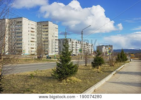 One Of The Streets Of The Northern City In Russia In The Spring