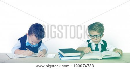 Kid Child Studio Shoot Learning Bookworm