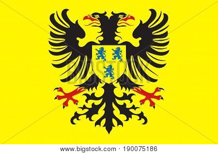 Flag of Cambrai is a commune in the Nord department and in the Hauts-de-France region of France. Vector illustration