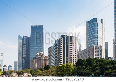 New Buildings In Guangzhou City In Spring