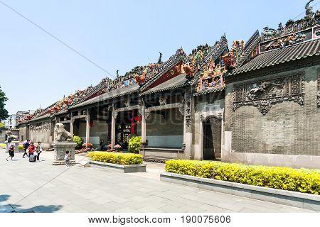 People Near Guangdong Folk Art Museum
