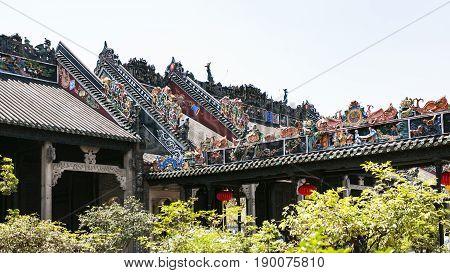 Roof Decoration Of Guangdong Folk Art Museum