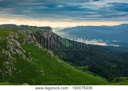 Mountain Valleys And Forests