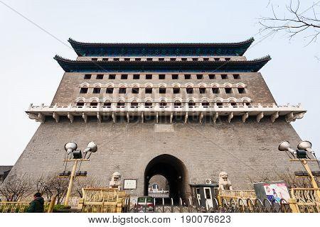 Facade Of Arrow Tower (jian Lou) In Beijing