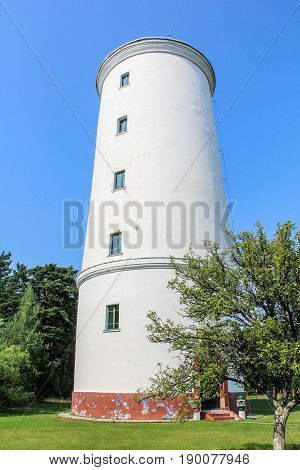 lighthouse in the ovisi latvia the beacon