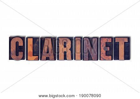 Clarinet Concept Isolated Letterpress Word