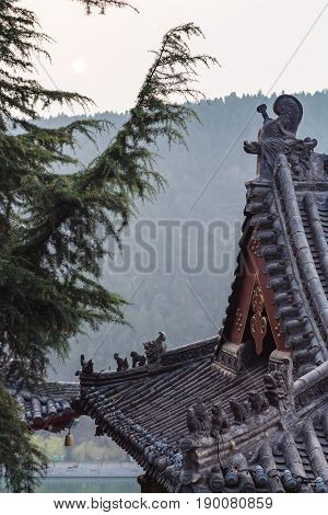 Roof Of Temple On East Hill Of Longmen Grottoes