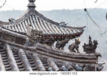 Roof Decoration Of Temple On East Hill Of Longmen