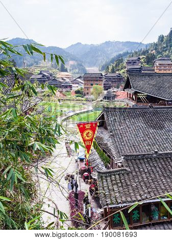 View Of Shopping Street In Chengyang Village