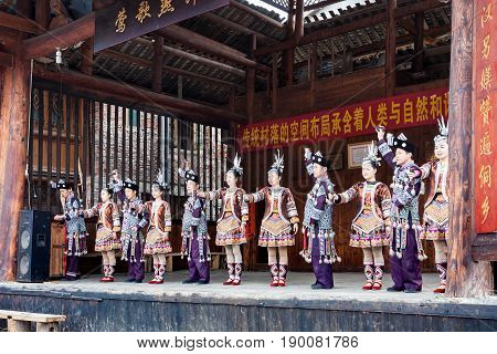 Actors In Dong Culture Show In Chengyang