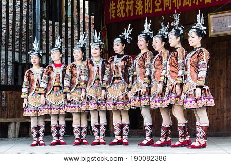 Singers In Culture Show In Chengyang Village