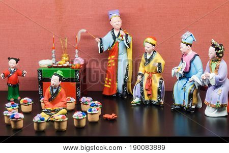Porcelain Figurines In Chen Clan Ancestral Hall