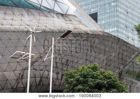 Wall Of Modern Opera House In Zhujiang New Town