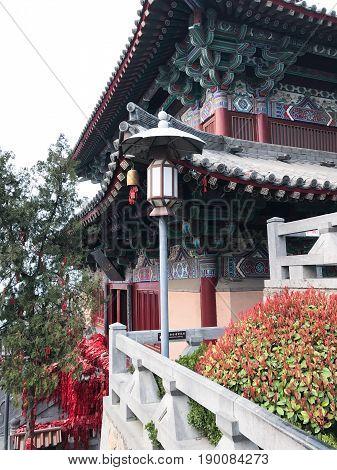 View Of Xiangshan Temple On East Hill In Longmen