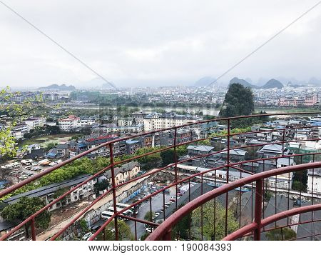 Panorama Of Guilin City In Spring