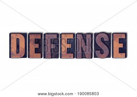 Defense Concept Isolated Letterpress Word