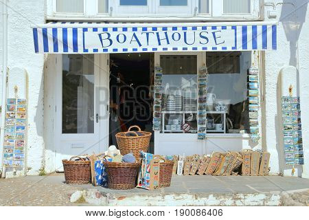 Port Isaac, Cornwall, Uk - April 8Th 2017: The Boathouse, A Traditional Seaside Store Offering Marit