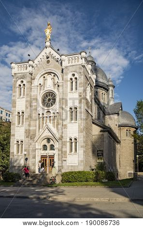 MONTREAL - MAY 27: Notre dam De Lourdes Basilica on May 27 2017 in Montreal Quebec