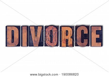 Divorce Concept Isolated Letterpress Word