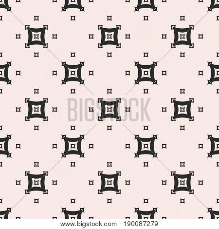 Vector monochrome seamless pattern. Abstract geometric background. Simple figures pattern. Small arched squares pattern. Repeat tiles pattern, design pattern, prints pattern, decor pattern, digital pattern, fabric pattern.