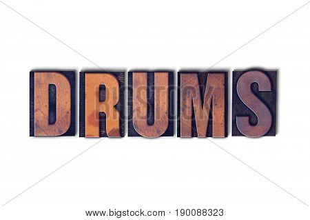Drums Concept Isolated Letterpress Word