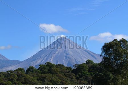 Smoke on top, Volcan de Colima in Mexico
