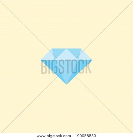 Flat Icon Diamond Element. Vector Illustration Of Flat Icon Jewel Gem Isolated On Clean Background. Can Be Used As Diamond, Jewel And Gem Symbols.