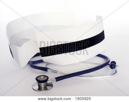Nurse Caps And Stethoscope