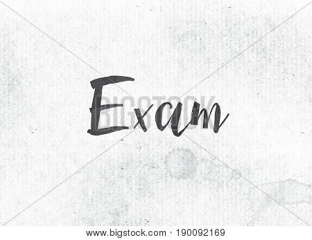 Exam Concept Painted Ink Word And Theme