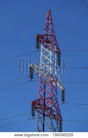 pylon red and white