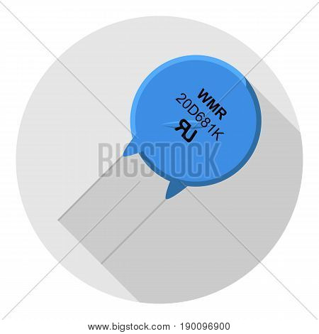 Vector image varistor on a round background