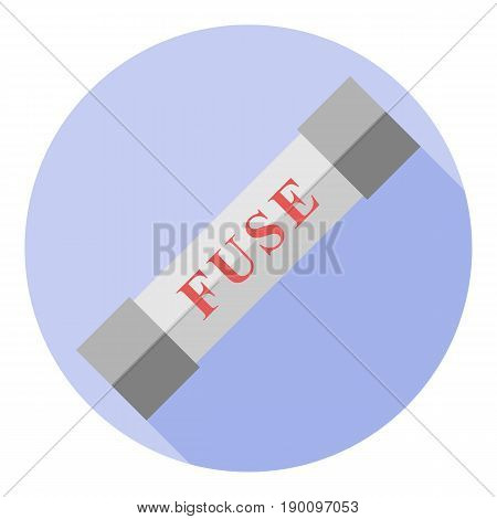 Vector image of an electric fuse on a round background