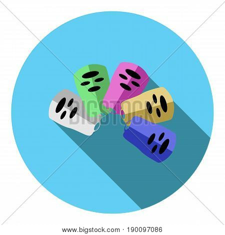 Vector image of control panels on a round background