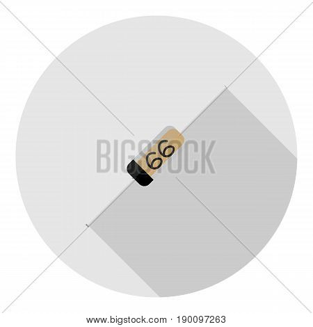 Vector image of a zener on a round background
