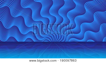 Magic Abstract Background With Rays Of Light