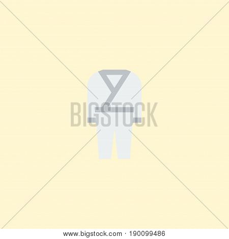 Flat Icon Kimono Element. Vector Illustration Of Flat Icon Uniform  Isolated On Clean Background. Can Be Used As Uniform, Kimono And Karate Symbols.